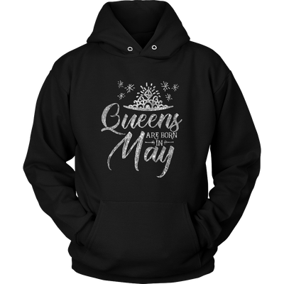 'Queens Are Born in May' Hoodie (SILVER) LIMITED EDITION