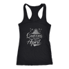 'Queens Are Born in April' Racerback Tank (SILVER) LIMITED EDITION