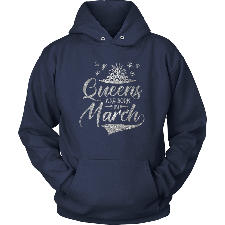 'Queens Are Born in March' Hoodie (SILVER) LIMITED EDITION