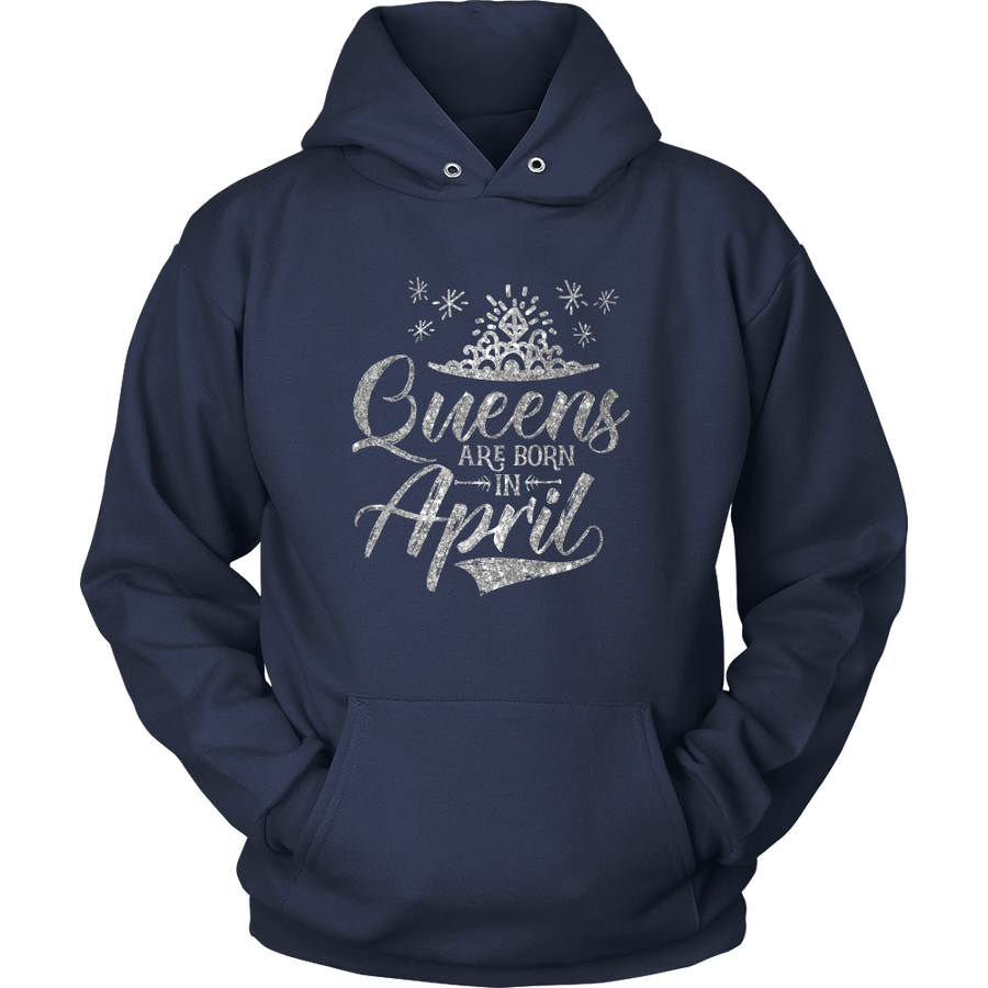 'Queens Are Born in April' Hoodie (Silver) LIMITED EDITION