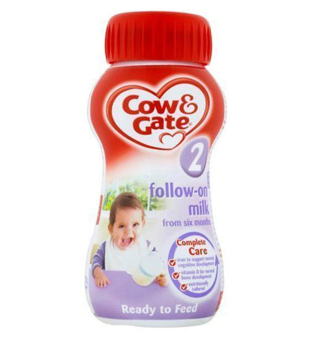 Cow & Gate 2 Follow On Milk Liquid 200ml Baby Formula - CG 200ml