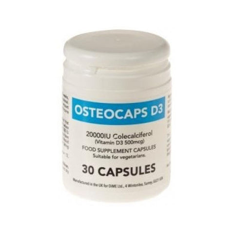 Osteocaps D3 20000IU Capsules x 30 Vitamin D3 Colecalciferol Supplement