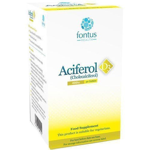 Aciferol D3 400iu Tablets x 90 Vitamin D3 Supplement
