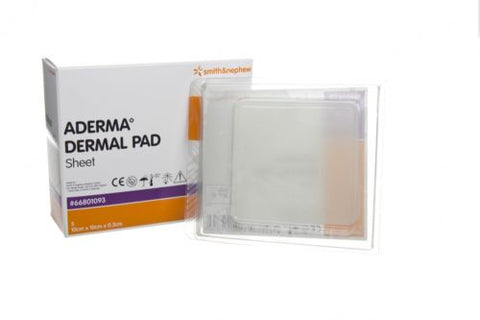 ADERMA Dermal Sheet 20 x 20 x 0.3cm 66801095 Helps To Prevent Pressure Ulcers