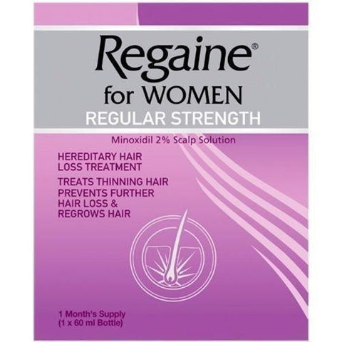 Regaine Regular Strength Scalp Solution For Women 60ml