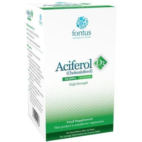 Aciferol D3 50000iu Tablets x 10 Vitamin D3 Supplement V/Halal
