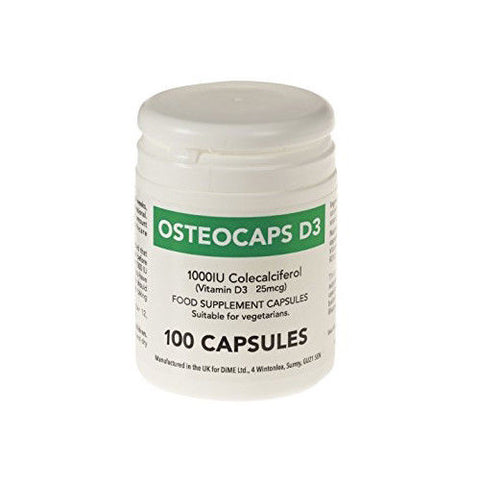 Osteocaps Vitamin D3 Colecalciferol Supplement 1000iu x 100 Capsules
