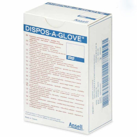 Ansell Dispos-A-Glove Powder Free Examination Gloves SMALL x 100