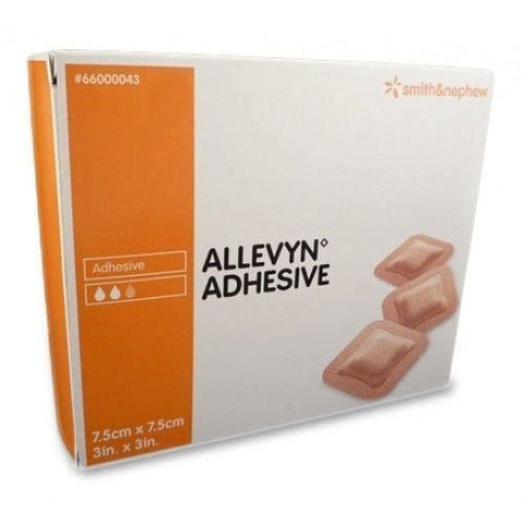 Allevyn Adhesive Classic Dressings 7.5cm x 7.5cm x10 - Wounds, Ulcers, Diabetic