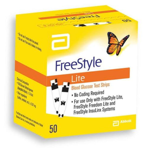 FreeStyle Lite Blood Glucose Test Strips x 50