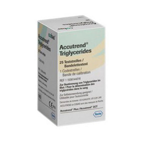 Accutrend Triglyceride Strips 1 x 25 Accutrend Plus