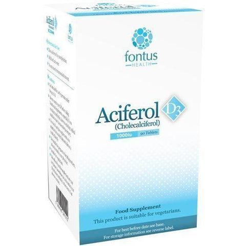 Aciferol D3 1000iu Tablets x 90 Vitamin D3 Supplement