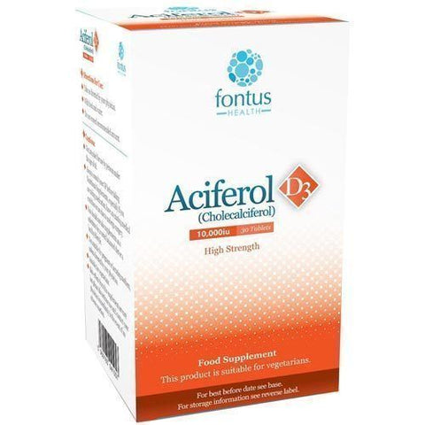 Aciferol D3 10000iu Tablets x 30 Vitamin D3 Supplement