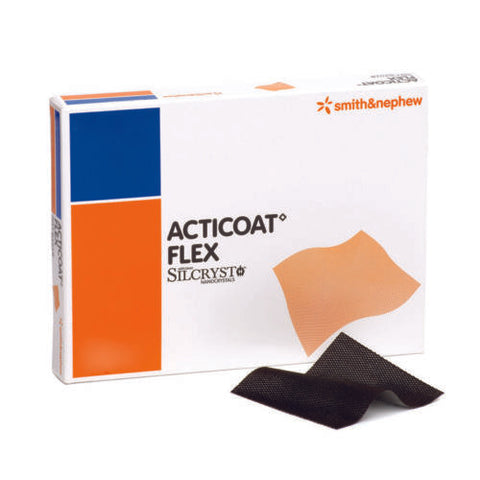 Acticoat Flex 3 Silver Coated Antimivrobial Dressings 5cm x 5cm x 5