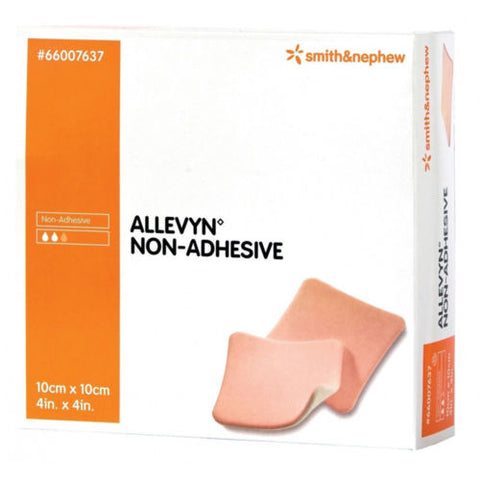 ALLEVYN Non-Adhesive 10cm x 10cm Advanced Foam Wound Dressings 66007637
