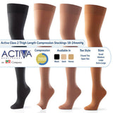 Activa Class 2 Thigh Compression Support Stockings Open or Closed Toe 18-24mmHg