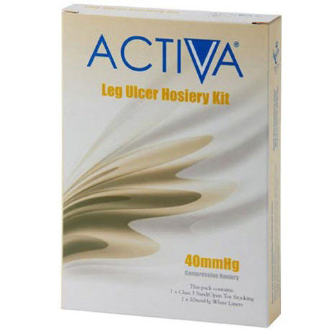 Activa Leg Ulcer Hoisery Kit Black Small 40mmHg x 1