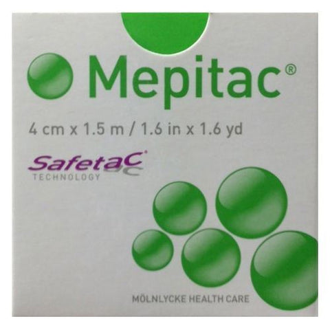 Mepitac Fixation Soft Silicone Tape 4cm x 1.5M x 1