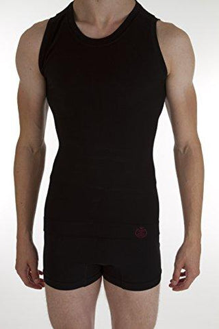 Comfizz Mens Ostomy/Hernia/Post Surgery Support Vest - Level 1 Light Support (XL/2XL, Black)