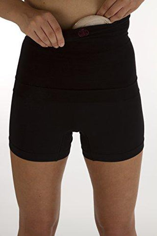 "Comfizz Ostomy/Post Surgery Support Waistband Unisex 10"" Depth Level 1 Light Support (Black, M/L)"