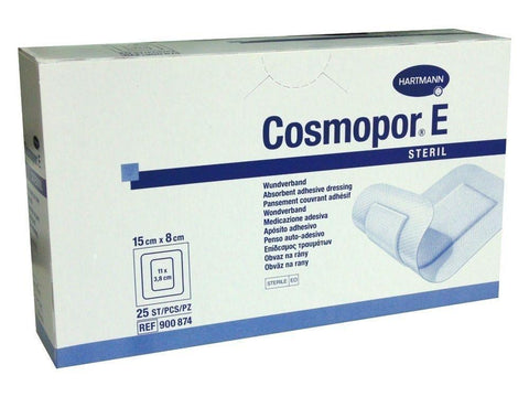 Hartmann Cosmopor E Sterile Adhesive Wound Dressings 15cm x 8cm x 25 Surgical Cuts Burns