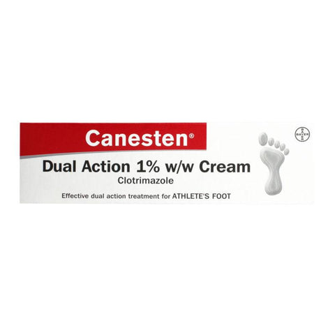 Canesten Dual Action Athletes Foot Cream 30g - Multibuy