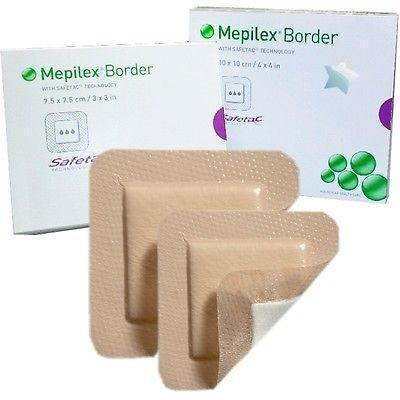 Molnlycke Mepilex Border Dressings 10cm x 12.5cm - Wounds Ulcers Tattoos 295360