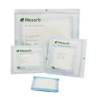 Mesorb Cellulose Absorbent Dressings 20cm x 25cm x10 - Highly Absorbant Dressings - Mesorb