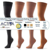 Activa Class 2 Thigh Compression Support Stockings Open or Closed Toe 18-24mmHg Compression Stockings Socks and Tights L&R Medical UK LTD- EasyMeds Healthcare LTD