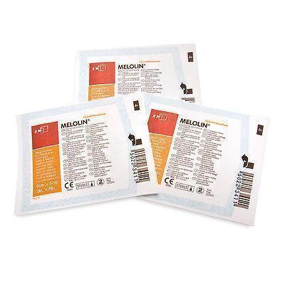 Smith & Nephew Melolin 10 x 10 cm x100 Low Adherent Absorbent Dressings Wounds Abrasions Burns