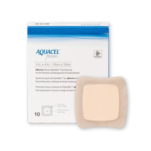 Aquacel Foam Non Adhesive Dressings 10 cm x 10cm 420633 Wound Dressings Convatec- EasyMeds Healthcare LTD