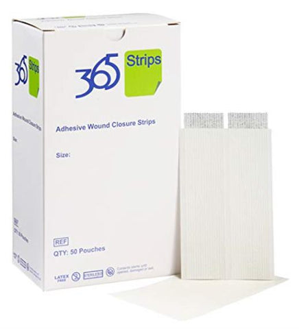 365 Wound Closure Reinforced Strips Dressings 6MM X 75MM 9065