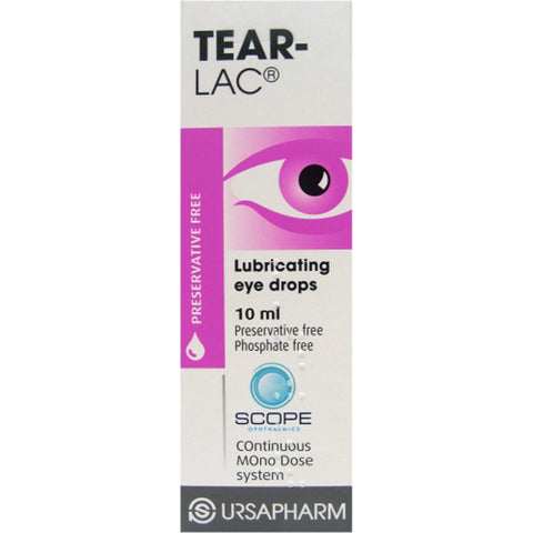 Scope Opthalmics Tear-Lac Lubricating Preservative Free Eye Drops - 10ml