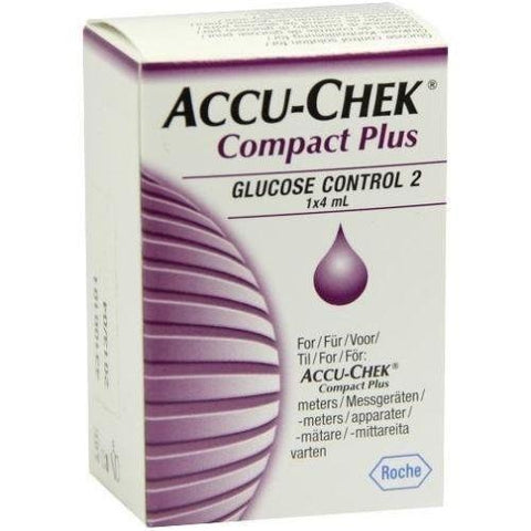 Accu-Chek Compact Plus Glucose Control 2 Solution 1x4ml New Roche- EasyMeds Healthcare LTD