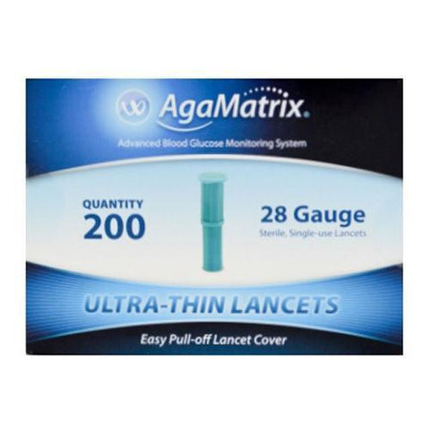 AgaMatrix Ultra-Thin Lancets 28G x 200 New AgaMatrix- EasyMeds Healthcare LTD