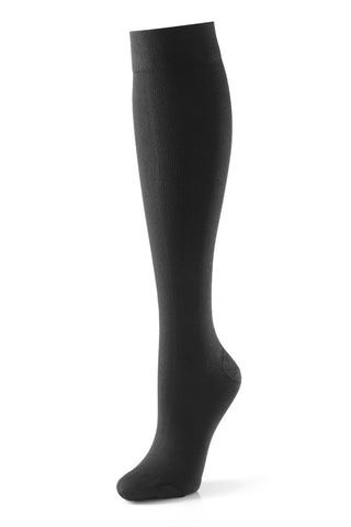 Activa Class 2 Unisex Ribbed Support Socks 18-24 mmHg Black Small