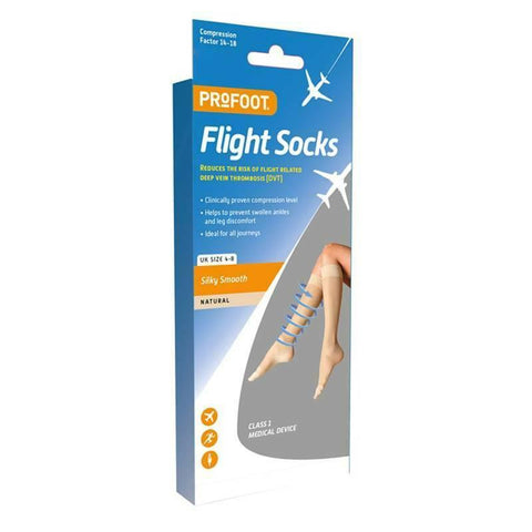 Profoot Flight Socks Silky Smooth 4-7 Size - Natural