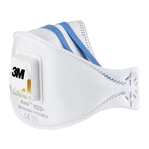 3M Aura 9322+ - Valved Dust Mask Respirator Respirator FFP2 (1 Single Mask)