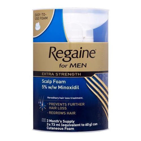 Regaine Regaine Extra Str Scalp Foam for Men 73ml x 3 (3 months supply)