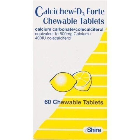 Calcichew-D3 Forte Chewable Tablets x 60 Vitamins/Supplements Calcichew- EasyMeds Healthcare LTD