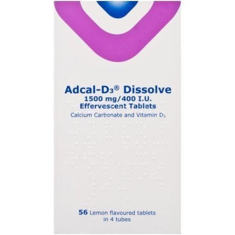 Adcal-D3 Dissolve Effervescent Tablets x 56 Vitamins/Supplements Kyowa Kirin- EasyMeds Healthcare LTD