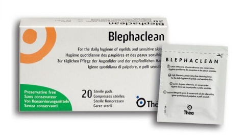 Blephaclean Sterile Pads/Wipes x20 Eye Lid Daily Hygiene Blepharitis Pres. Free