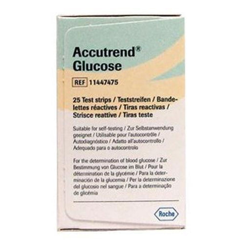 Accutrend Glucose II Test Strips x 25 New Roche- EasyMeds Healthcare LTD