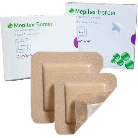 Molnlycke Mepilex Border Soft Silicone Absorbent Adhesive Dressings 10cm x 30cm