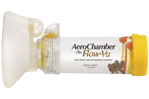 AeroChamber Plus Flow-Vu Spacer Child Medium Yellow