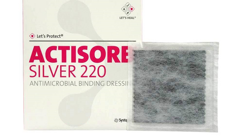 Actisorb Silver 220 Activated Charcoal Dressing(s) 9.5 x 6.5cm Ulcers Diabetic