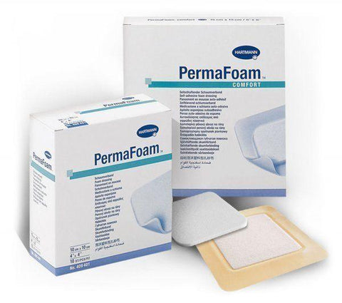 Paul Hartmann PermaFoam Comfort Dressings 20cm x 20cm x 3 Sterile Foam Dressings