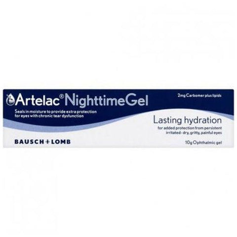 Artelac Night Time Ophthalmic Gel For Dry Eyes Tear Dysfunction Eye Care - Dry Eyes Bausch and Lomb- EasyMeds Healthcare LTD