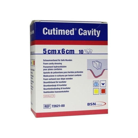 BSN Medical Cutimed Cavity Dressings x 10 (Choose Size)  Sterile Foam Absorbent Conformable