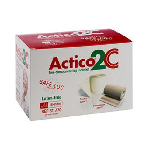 Actico 2C Latex-Free Leg Ulcer Kit Standard 18cm x 25cm x 1 Wound Dressings Activa- EasyMeds Healthcare LTD